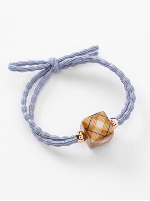 hot Elastic Bowknot and Plaid Pattern Hair Ties - BLUE GRAY  Mobile
