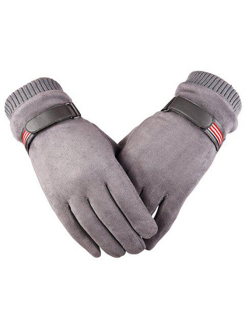 best Outdoor Fluffy Lined Full Finger Gloves - GRAY GOOSE  Mobile