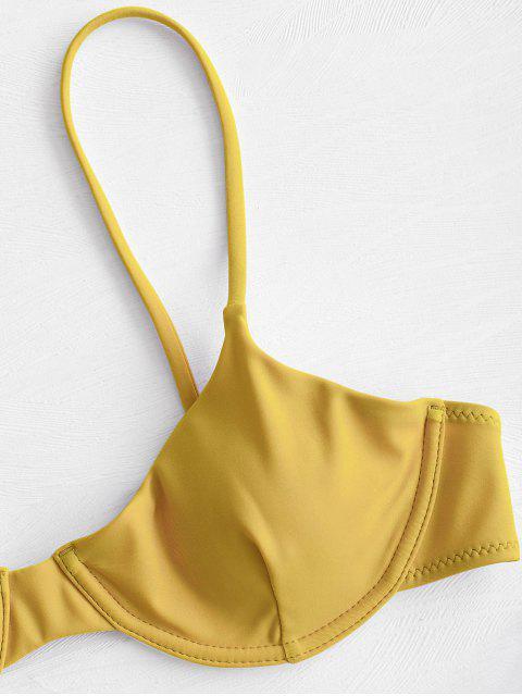 ZAFUL Ensemble de Bikini Balconnet Noué à Armature - Moutarde S Mobile