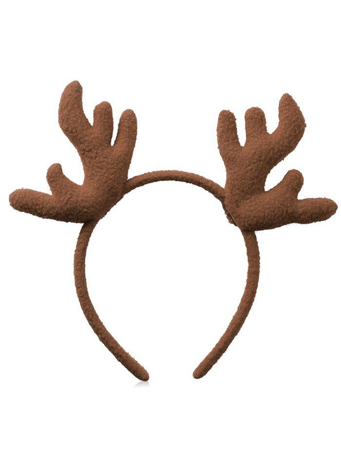 Christmas Antler Printed Fluffy Hairband