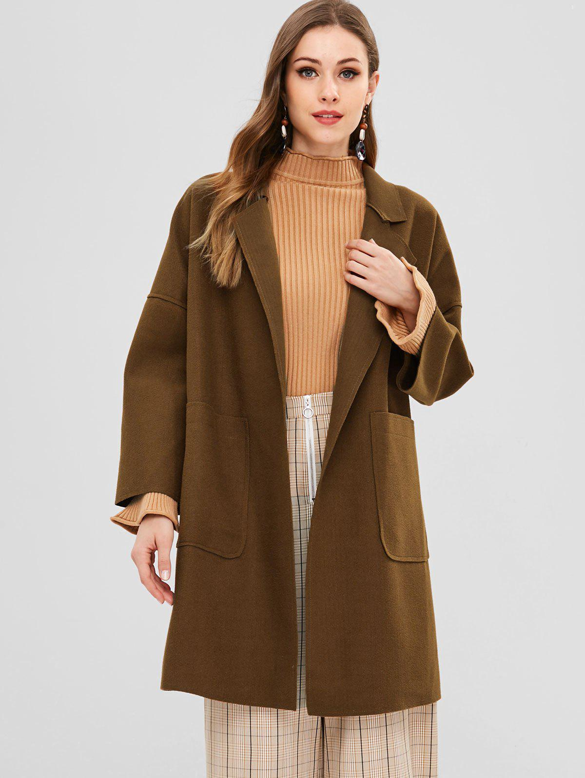 Double Faced Oversized Faux Wool Coat