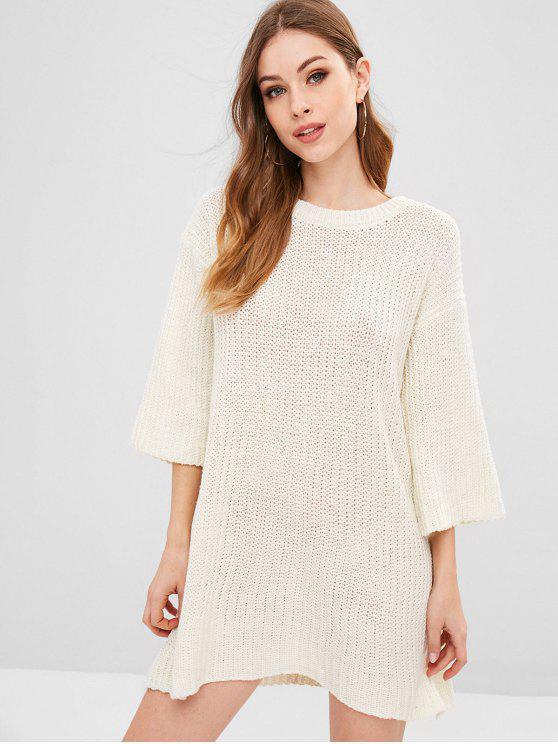 Durchbrochenes Jumper-Kleid - Warmweiß Eine Größe