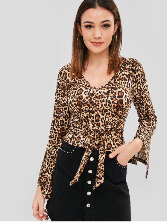Leopard-Oberteil zu binden - Leopardenmuster S