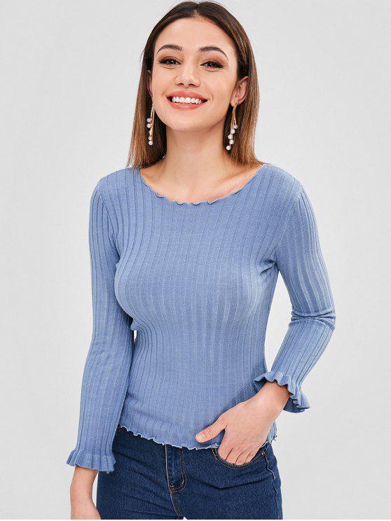 lady Lettuce Slim Sweater - BLUE GRAY ONE SIZE