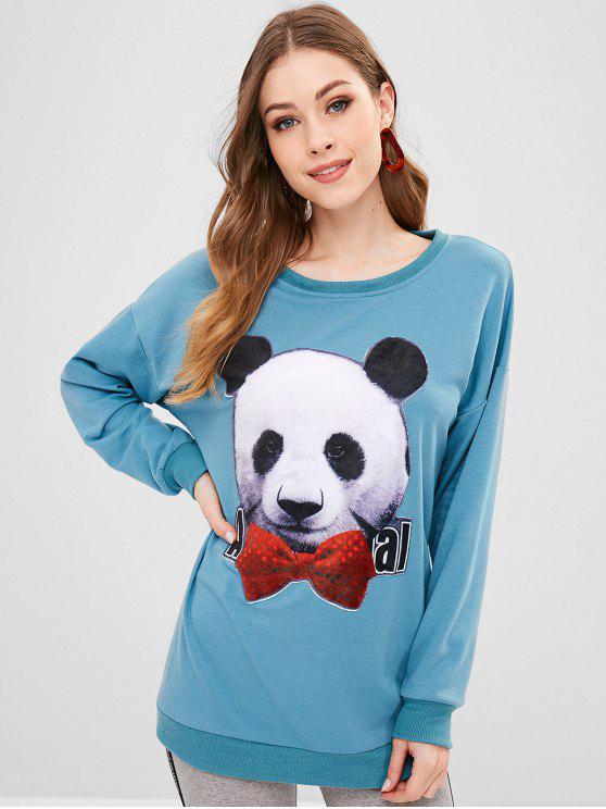 online Cute Panda Sweatshirt - BLUE KOI XL