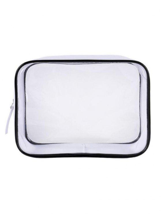 new Cosmetic Transparent Zipper Large Capacity Cosmetic Bag - TRANSPARENT