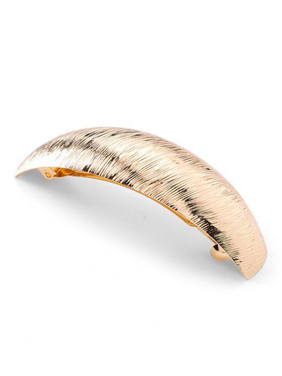 women Wide Arc Shape Alloy Hair Clip - GOLD