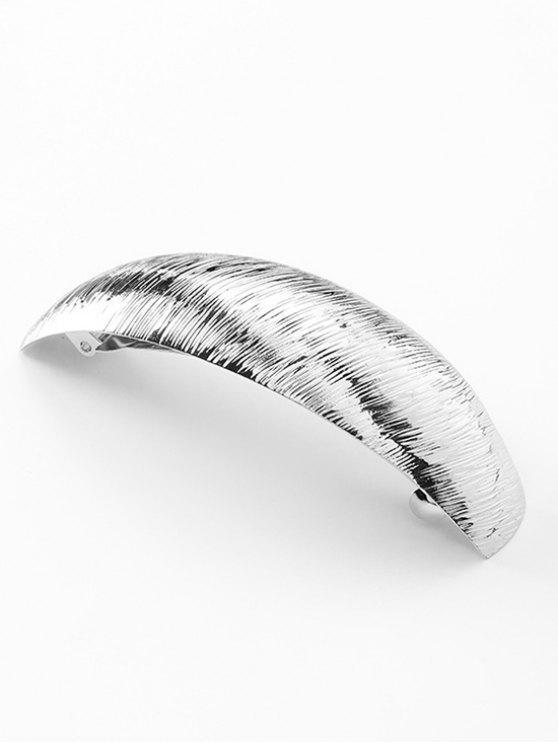 online Wide Arc Shape Alloy Hair Clip - SILVER