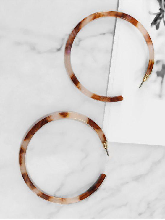women's Statement Hoop Decoration Earrings - COFFEE