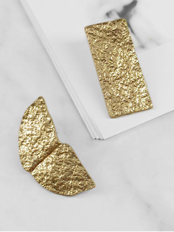 Asymmetrie-Legierung Design-Ohrringe - Gold