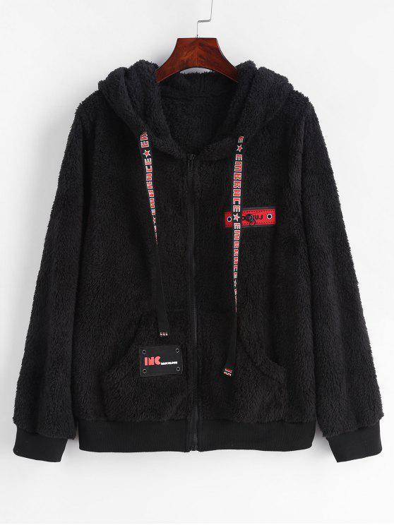 Fluffy Sweat à capuche en polaire zippée - Noir S