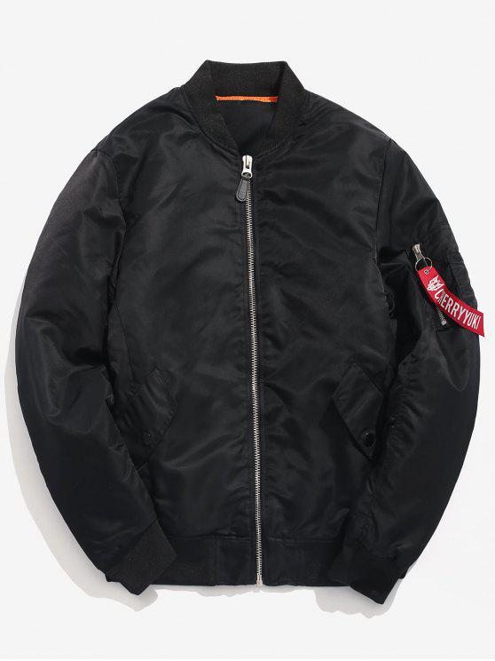 outfits Winter Padded Bomber Jacket - BLACK L