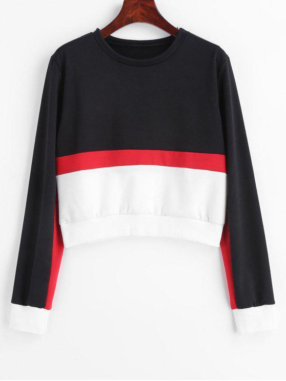 Camisola tricotada Tricolor do bloco da cor de ZAFUL - Multi eu
