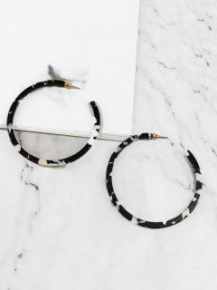 Statement Hoop Decoration Earrings - Black