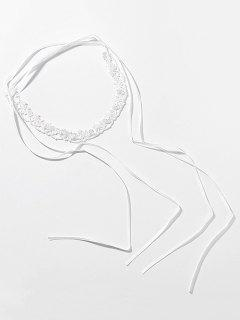Lace Shape Hollow Clavicle Chain Necklace - White