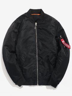 Winter Padded Bomber Jacket - Black L