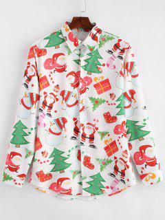 Chemise De Noël Père Noël Et Bonhomme De Neige Imprimés - Multi L