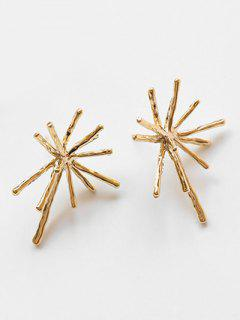 Alloy Flower Printed Stud Earrings - Gold