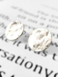 Circle Shape Alloy Earrings - Silver
