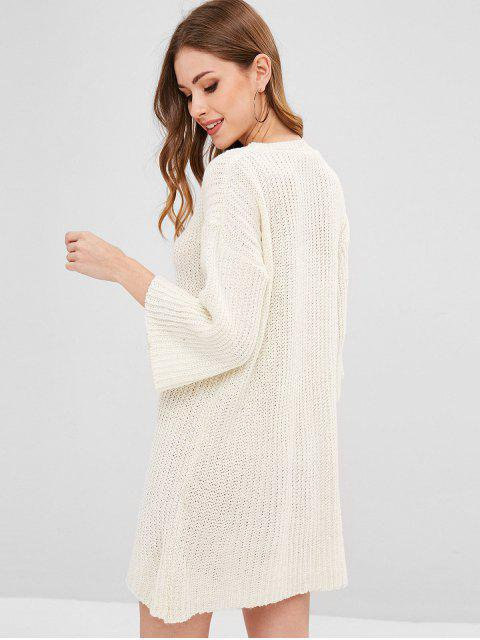 shops Openwork Jumper Dress - WARM WHITE ONE SIZE Mobile