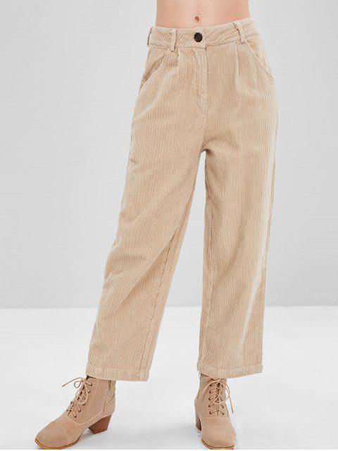 Pantalones de pata ancha de cintura alta - Beige XL Mobile