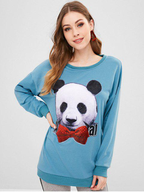 online Cute Panda Sweatshirt - BLUE KOI XL Mobile