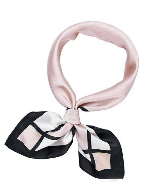 outfit Cute Pink Square Silky Handkerchief - PINK  Mobile