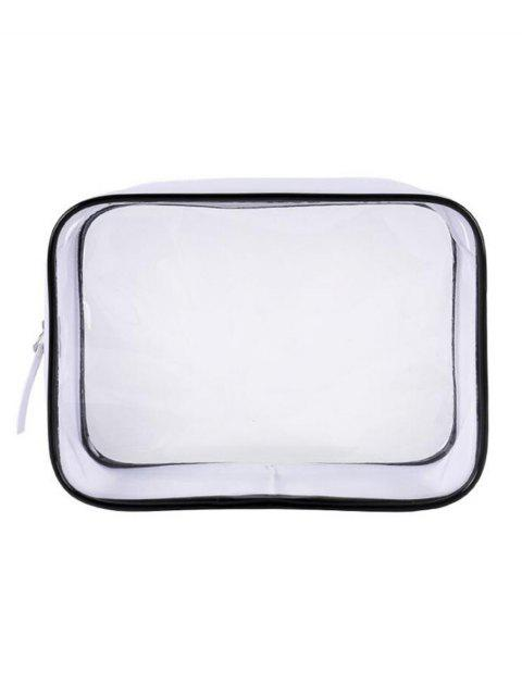 new Cosmetic Transparent Zipper Large Capacity Cosmetic Bag - TRANSPARENT  Mobile
