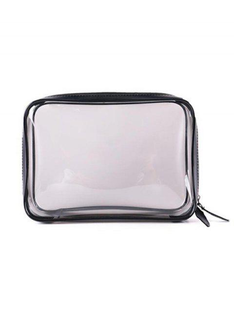 online Large Capacity Transparent PVC Zipper Makeup Bag - TRANSPARENT  Mobile