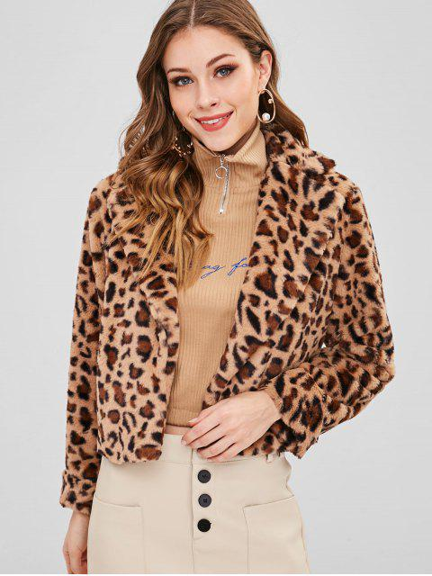 Abrigo de piel sintética de leopardo - Leopardo M Mobile