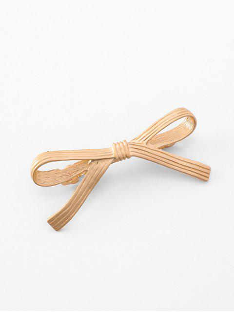 latest Alloy Bowknot Design Hairpin - GOLD  Mobile