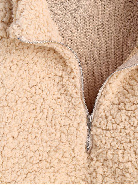 Sweat-shirt Fourré à Demi-Zip en Fausse Laine - Champagne L Mobile