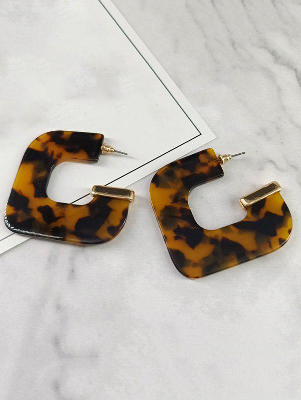 Geometric Leopard Printed Earrings фото