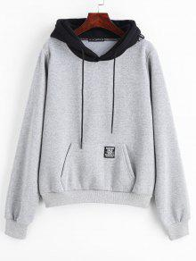 abe1fa65a324 71% OFF  2019 ZAFUL Pouch Pocket Fleece Pullover Hoodie In LIGHT ...