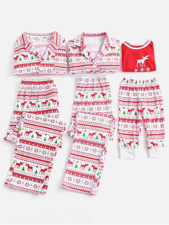 مطابقة الكبار الاطفال عيد الميلاد مجموعة بيجامة الأسرة - متعدد أمي زل