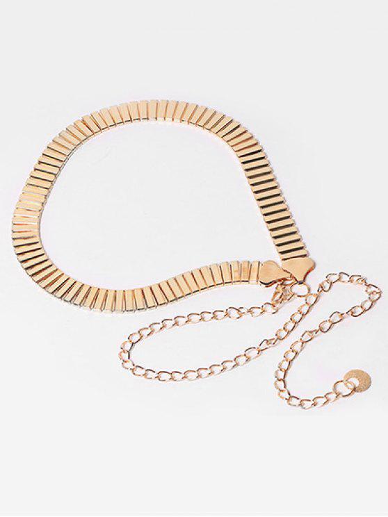 online Elegant Alloy Chain Dress Belt - GOLD