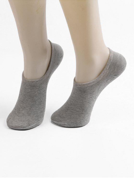 chic Non-slip Cotton No Show Socks - BATTLESHIP GRAY