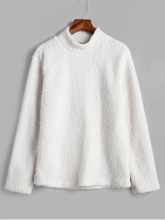 Короткая пуховая пуховая пуховая пуховая пуховая пуховая пуховая пуховая рубашка - Белый M