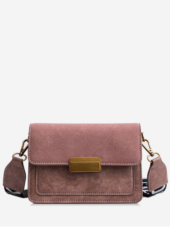shop Scrub Leather Cover Design Crossbody Bag - ORANGE PINK