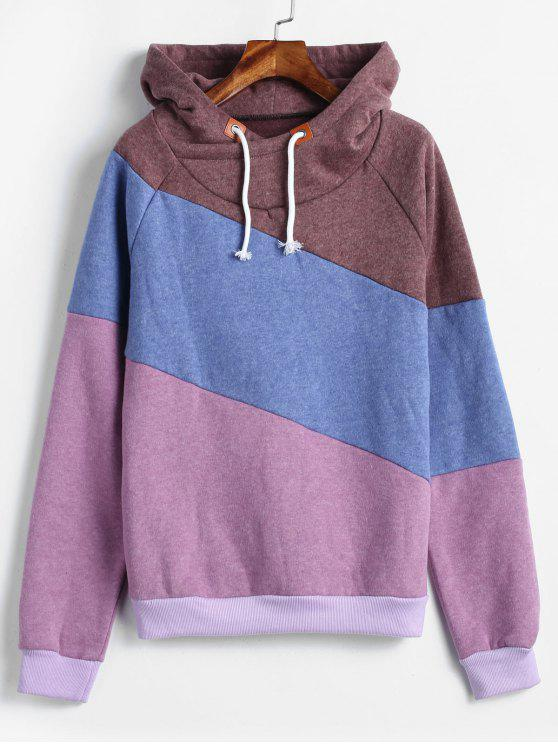 b05a065e3927 28% OFF] 2019 Color Block Raglan Sleeve Casual Hoodie In MULTI-A | ZAFUL