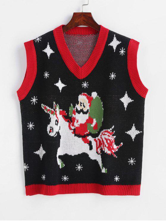Christmas Vest.Graphic Christmas Vest Sweater Multi
