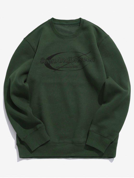 online Pullover Letter Pattern Sweatshirt - DEEP GREEN 2XL
