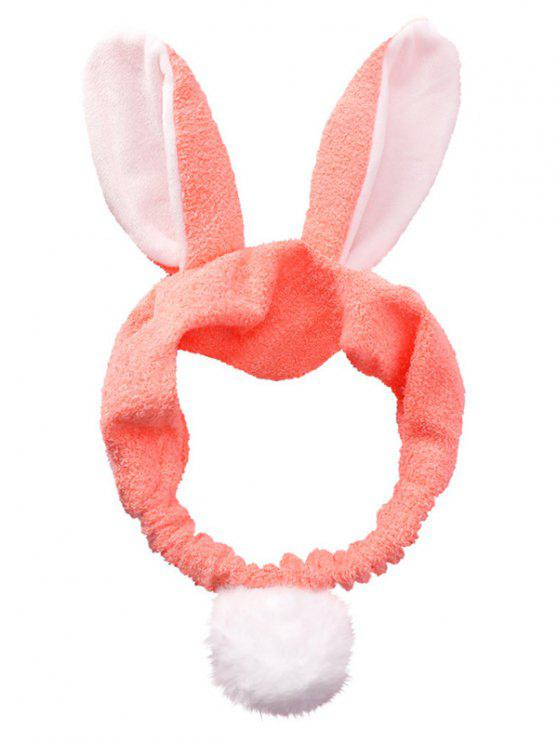 new Fluffy Rabbit Ears Pattern Cosmetic Hair Band - DEEP PINK