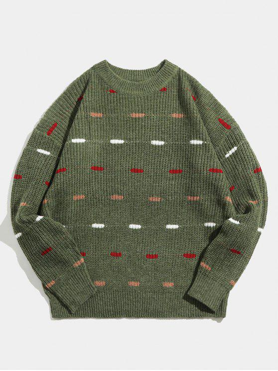 new Crewneck Loose Knit Sweater - CAMOUFLAGE GREEN M