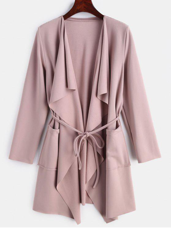 shop Brushed Jersey Waterfall Duster Coat - LIPSTICK PINK S