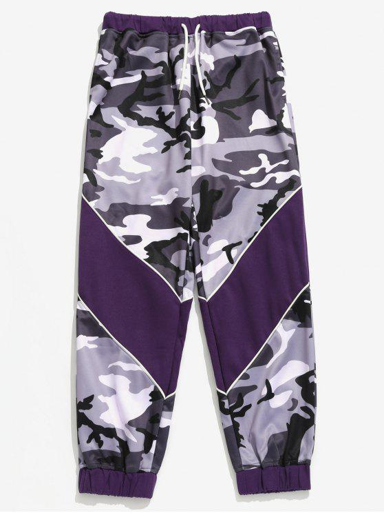 unique Drawstring Camouflage Pattern Jogger Pants - LIGHT SLATE GRAY XL