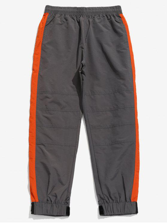 Contrato de cordón de color Jogger pantalones - Gris Carbón XL