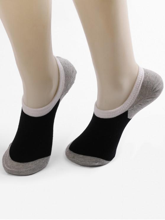 Non-slip Cotton No Show Socks - متعددة-A