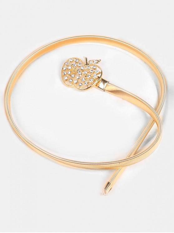 buy Rhinestone Fruit Buckle Dress Belt - GOLD