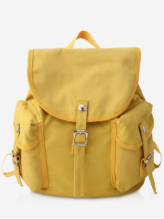 cac8ade0ed2c Canvas Design Large Capacity School Backpack BLACK DARK GREEN WHITE YELLOW